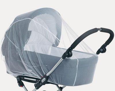 BabyDan Twin Pram Mosquito Net White
