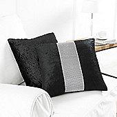 Country Club Black Diamante Cushion, 43 x 43cm