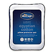 Silentnight Soft Hygienic Anti - Allergy Polycotton Pillow Protector Pair