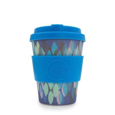eCoffee Cup Sakura Blue with Blue Silicone 12oz