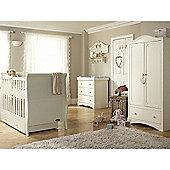 Mee-go Sleep 5 Piece Nursery Room Set includes Sprung Mattress - Ivory