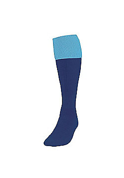Precision Training Turnover Football Socks - Navy & sky blue