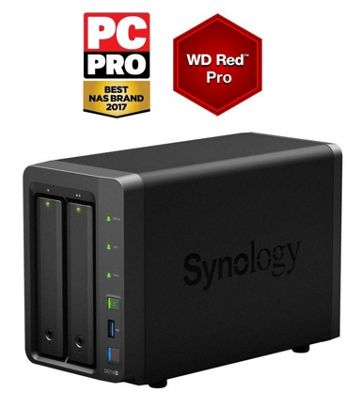 Synology DiskStation DS718+/8TB-RED PRO 2-Bay 8TB(2x4TB WD RED PRO) high performance NAS
