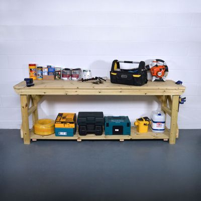 Wooden Work Bench - Pressure Treated - 4ft