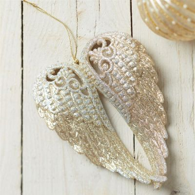 Glittered Wings Decoration