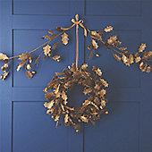 Gold Hessian Holly Christmas Garland