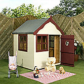 4 x 4 Sutton Wooden Playhouse + Single Door (5ft x 7ft) - Fast Delivery - Pick A Day