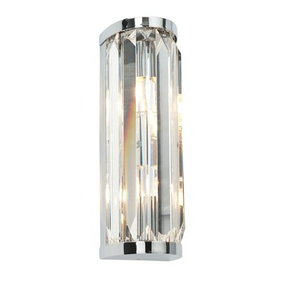 Crystal 18W Wall Light Chrome Plate Chic Style Bathroom Lighting Decor