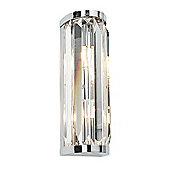 Crystal 18W Wall Light Chrome Plate Chic Style Bathroom Lighting Decor