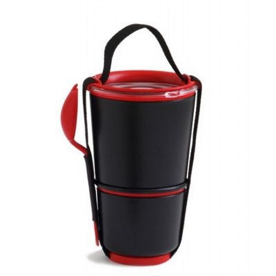 Black + Blum Lunch Pot, Black and Red