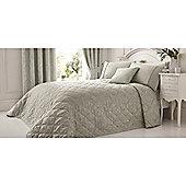 Serene Laurent 240x260cm Bedspread - Silver