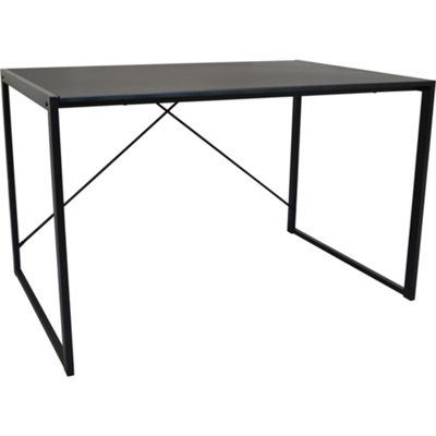 Harbour Housewares Large Computer, Laptop Wooden Desk - Black