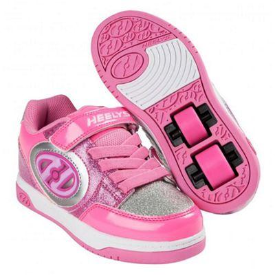 Heelys Plus Lighted Neon Pink/Light Pink/Silver Kids Heely X2 Shoe UK 2