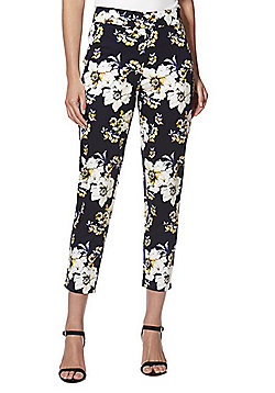 F&F Floral Print Ankle Grazer Trousers - Multi
