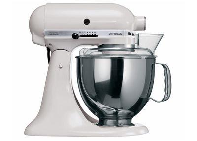 KitchenAid Artisan White Food Mixer