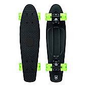 """XOOTZ 22"""" PP Skateboard with LED Wheels Black"""
