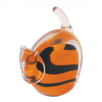 Caithness Glass Moggies Tigger Paperweight