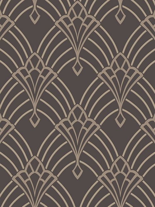 Astoria Deco Wallpaper Charcoal And Silver Rasch 305319