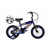 "Bumper Goal 12"" Wheel Kids Pavement Bike Dark Blue Stabilisers"