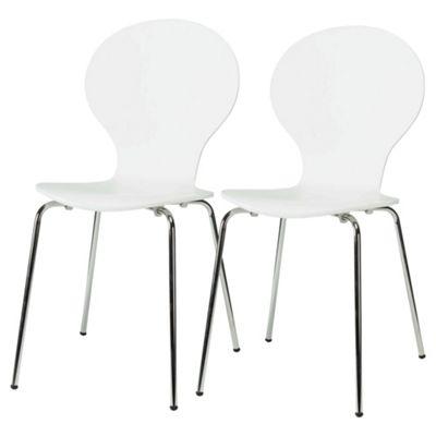 Bistro Chairs Pair White