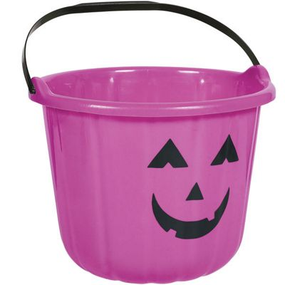 Halloween Bags & Bowls Purple Pumpkin Bucket