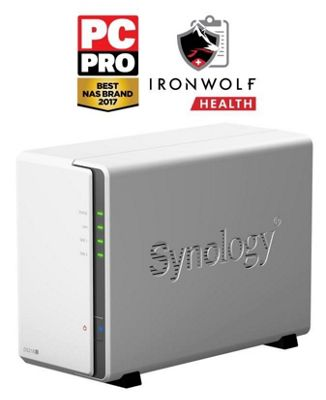 Synology DiskStation DS218j/12TB-IW entry-level 2-bay 12TB(2x6TB Seagate IronWolf) NAS for home and personal cloud storage