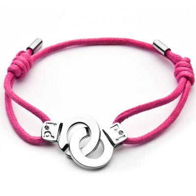 Cuffs of Love Cord Bracelet - Pink Small