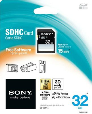 Sony 32GB SDHC Memory Card Black