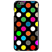 Polka Dot Case - iPhone 5 / iPhone 5S / iPhone SE - Black with Multicoloured Dots