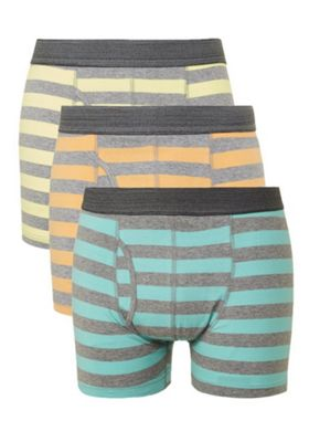 F&F 3 Pack of Striped Trunks with As New Technology Multi M