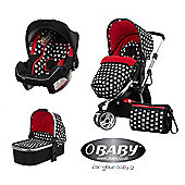 Obaby Chase with Mosquito Net 3 in 1 Travel System - Crossfire