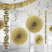 Decorations Gold Paper & Foil Room Decorating Kit