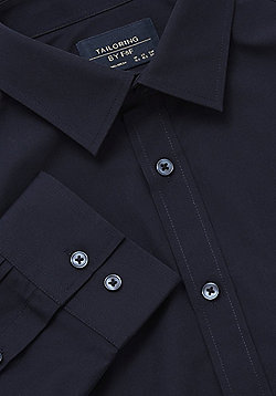 F&F Easy Care Regular Fit Shirt - Navy