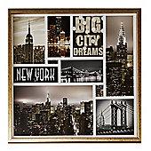 Big City Dream Montage Glassless Framed Print 60cm x 60cm