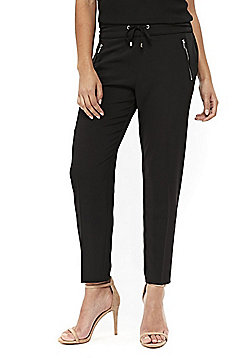 Wallis Henna Formal Joggers - Black