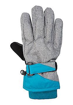 Mountain Warehouse Extreme Textured Kids Ski Gloves - Blue