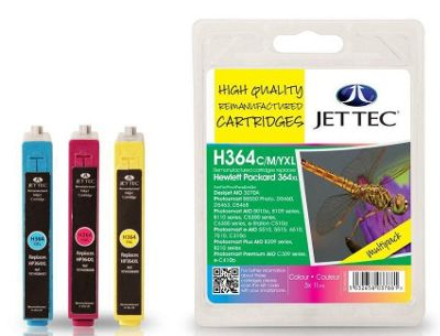HP364XL Multipack Remanufactured Ink Cartridge by JetTec - H364CMYXL