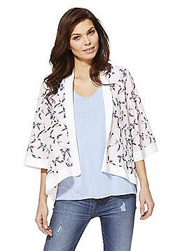 Mela London Swallow Print Kimono - Pink