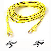 Belkin 5m Cat5 RJ45 Snagless Patch Cable Yellow