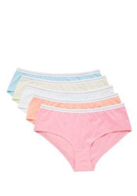 F&F 5 Pack of Glitter Waist Shorts Multi 4-5 years