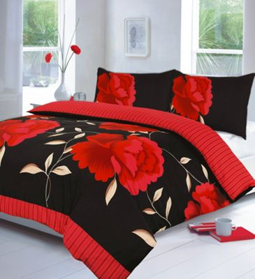 Rosaleen duvet cover and pillowcase set - red - single