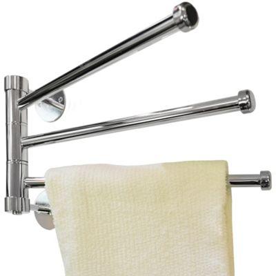 Salute - Wall Mounted Metal 3 Rung Towel Rail - Silver