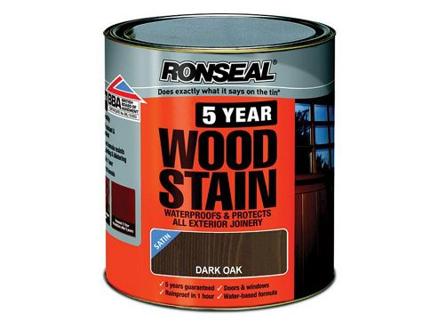 Ronseal 5YWDO250 250ml 5 Year Woodstain - Dark Oak