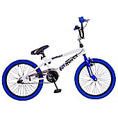 "Rooster No Mercy 20"" Freestyle Gyro BMX White/Blue"