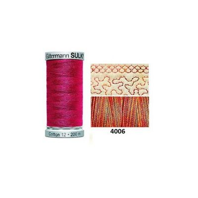 Gutermann Sulky Variegated Cotton 200m Autumn