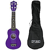 3rd Avenue Soprano Ukulele with Bag - Purple