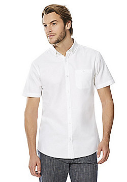 F&F Short Sleeve Oxford Shirt - White