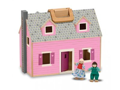 Melissa & Doug Fold and Go Wooden Doll's House