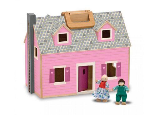 Melissa & Doug Fold and Go Wooden Doll's House
