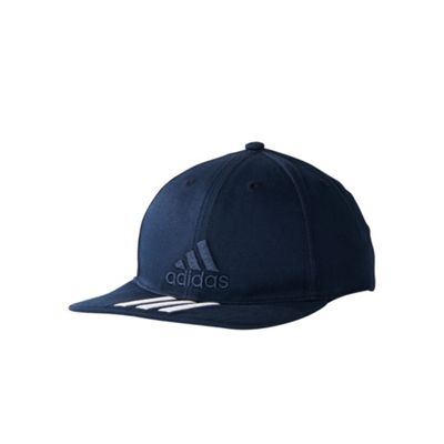 adidas Training 3 Stripes Classic Baseball Cap Hat Navy Blue White - Youth  Catalogue Number  160-7846 40687dc51f71